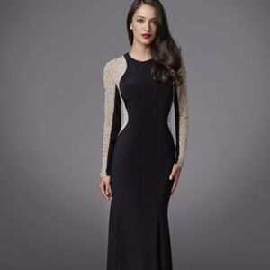 Black sequin gown/dress